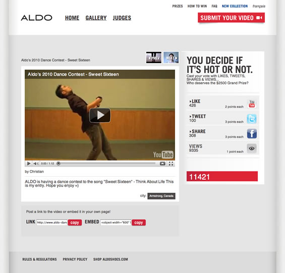 Aldo Let's Dance Video
