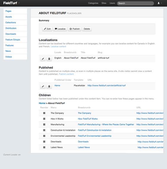 Admin Page Detail