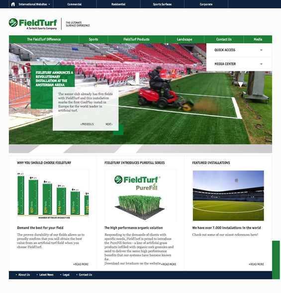 FieldTurf (Europe) Home Page