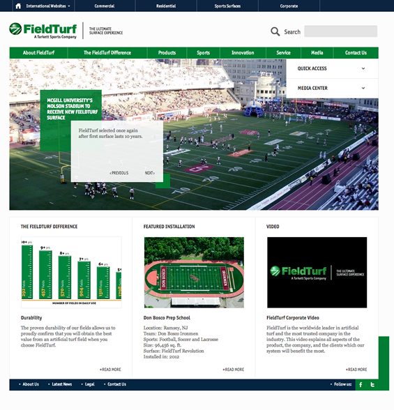 FieldTurf (North America) Home Page